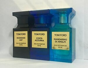 MANDARINO DI AMALFI, SHANGHAI LILY, COSTA AZZURRA by Tom Ford 50 ML, 1.7 fl.oz.