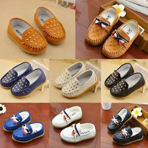 Baby Toddler Flat Slip Loafer Casual Soft Kids Shoes 2-5 Years Boys Girls