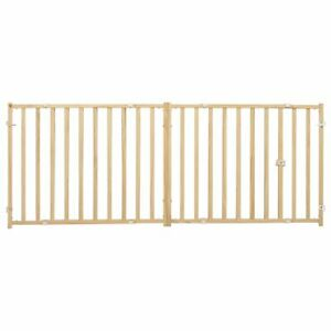"""MidWest Extra-Wide Swing Pet Safety Gate, Expands 53""""-96"""" Wide x 24"""" Tall"""