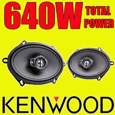 """KENWOOD 5""""x7"""" 5x7 640W 3-way car door deck oval shelf speakers Mondeo Fiesta"""