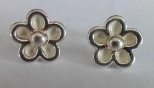Folli Follie flower enamel earrings - 5 micron silver plated