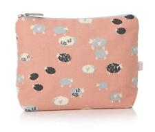 Country Farm Sheep Hearts Pink White Toiletries Make Up Cosmetics Wash Bag Case