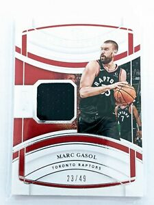 2019-20 National Treasures MARC GASOL Jersey Patch #23/49 CHAMPIONSHIP