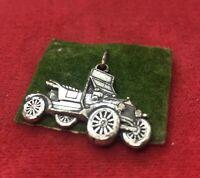 Vintage Sterling Silver Necklace 925 Charm Danecraft Tractor Pendant