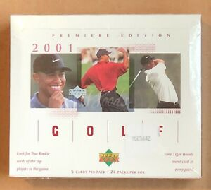 2001 UPPER DECK GOLF RETAIL 24 pack Box  Factory Sealed Tiger Woods PSA RC*