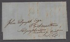 **US 19th Cent Stampless Cover, Miccosokie, FL 1858, Contents, RARE Town, No Cxl