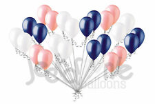 24 pc Coral Gold & Navy Blue Latex Balloons Party Decoration Birthday Baby Boy
