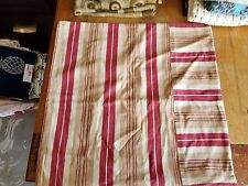 """Pottery Barn """"Red/Beige Stripe"""" 18"""" Pillow Cover"""