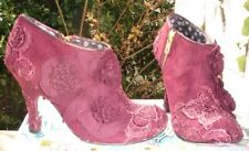 Irregular Choice Cheeky Moose Burgundy Stiletto Boots Size 3 / 36