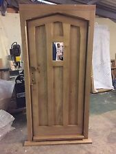 Solid Oak Gothic Door And Arched Head Frame. No VAT!