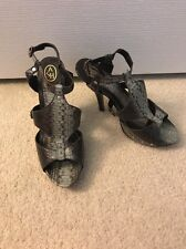 b69a949438a131 Ash Jade Snakeskin Leather High Heel Platform Sandals Heels Pumps Shoes New  40