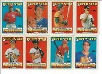 1988 TOPPS BASEBALL MINI STICKER CARDS LOT OF 8