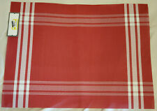 """Vinyl Placemat, Red/White 19""""x14"""", New"""