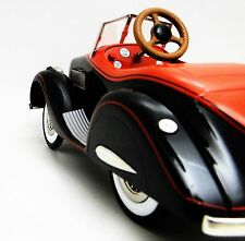Pedal Car 1930s Duesenberg Hot Rod Rare Vintage Midget Show Sport Model RedBlack