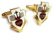 SACRED HEART of JESUS Cross nun priest Catholic Pope Vatican Cufflink Cuff Links