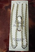 Creed Sterling Silver Mens 24 inch/ 4 cm Large Links- Neckchain -18.84 grams-NEW