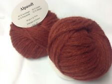 10 pelotes de laine  alpaga  rouille - extréme douceur  - Fabriqué en France