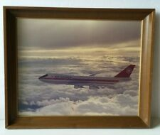 Vintage 1970s Air Canada Boeing 747-133 CF-T0A  Large 18 x 22 Framed Print