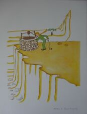 Antoine de SAINT-EXUPERY : Un wells in the desert # LITHOGRAPHY SIGNED #PRINCE