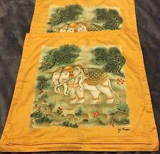 Jim Thompson Set Of Elephant 100% Cotton Pillowcases