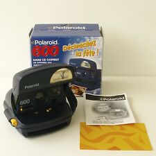 Polaroid  600 Bleu et Jaune - Etat de fonctionnement - Boîte et mode d'emploi -