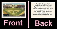 US 3511 Baseball Fields Tiger Stadium Detroit 34c single MNH 2001