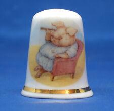 Birchcroft China Thimble -- Beatrix Potter - Little Pig Robinson -  Free  Box