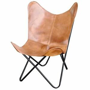 Leather Handmade Genuine Leather Butterfly Chair Outdoor Garden Chair
