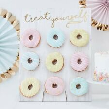 Ginger Ray Gold Foiled Treat Yourself Donut Wall Party Display Fits 9