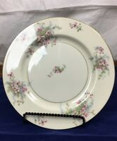 "6 Vintage Theodore Haviland China Apple Blossom New York 10.75"" Dinner Plates"