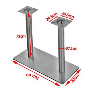 EDELSTAHL  Doppeltischfuß Tischfuß Tischbein Untergestell Tischgestell Tisch