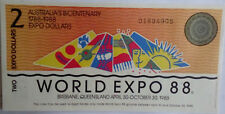 AUSTRALIA WORLD EXPO 1988 UNC BANKNOTE