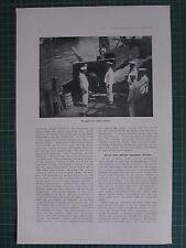 1917 WWI WW1 PRINT ~ ON BOARD AN ITALIAN CRUISER