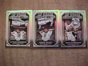 2020-21 Upper Deck Tim Hortons Boston Bruins Stanley Cup Winners Card Lot (3)