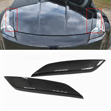 Carbon Fiber Headlight Eye Lid Eyelids Cover Fit Nissan 03-08 350Z Z33 Fairlady