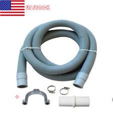 US Universal Washing Machine Dishwasher Drain Waste Hose Extension Pipe Kit 2M