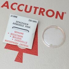 Accutron Spaceview 33.8mm Crystal Part #336-1APS New Old Stock Armored Pink