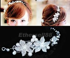 Shiny Diamante Love Vine & Flower Wedding Party Hair Headband Bridal Tiara