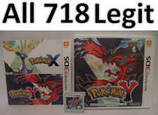 Authentic Pokemon Y Unlocked All 718 Legit 2DS 3DS XL Froakie Fennekin Chespin