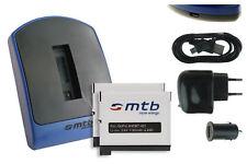 Chargeur (USB) + 2x Batterie AHDBT-401 / AHDBT401 pour GoPro Hero 4