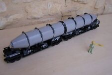 Lego Custom moc Train , Giant Tanker ,  Light Bluish Grey .