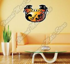 "Surf Surfing Windsurfing Tropical Wall Sticker Room Interior Decor 25""X21"""