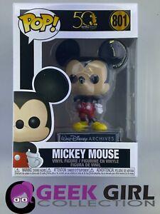 Funko Pop - Disney 798 - Mickey 50 Years Archives - CLASSIC Mickey - Mint