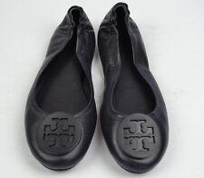 Tory Burch Minnie Travel Dark Navy Blue Leather Ballet Flats Size 7