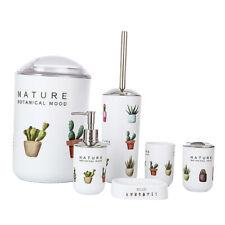 Bathroom Accessories Set Soap Dispenser Soap Dish Trash Can Botanical Mood