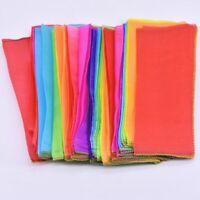 Rainbow Silk Streamer 1m*25cm Magic Tricks Scarve Stage Accessories Gimmick Prop