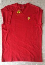 Ferrari para hombres camisa de cuello en V ROJO (TALLA XXL)