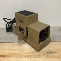 Pathescope Puck Slide Projector Vintage Electronics With Slide Holder - WORKING