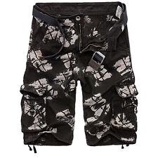 Hombre Ejército Militar Pantalón funcional Camuflaje Pantalones Cortos