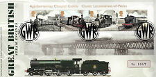 GB 2014 FDC Classic Locomotive Galles 4V M / S King George V Nome Piastra Cover